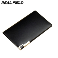 REAL FIELD Full Grain Cowhide Credit Card Holder ID Card Men Genuine Leather Banking Card Holder Driving License Pouch Wallet 37