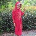 Jilbab Burka Abaya Hijab Para Niños Nuevas Muchachas Niños Maxi Vestido de Cuerpo Entero Abaya Musulmán Islámico Superior, jdb072