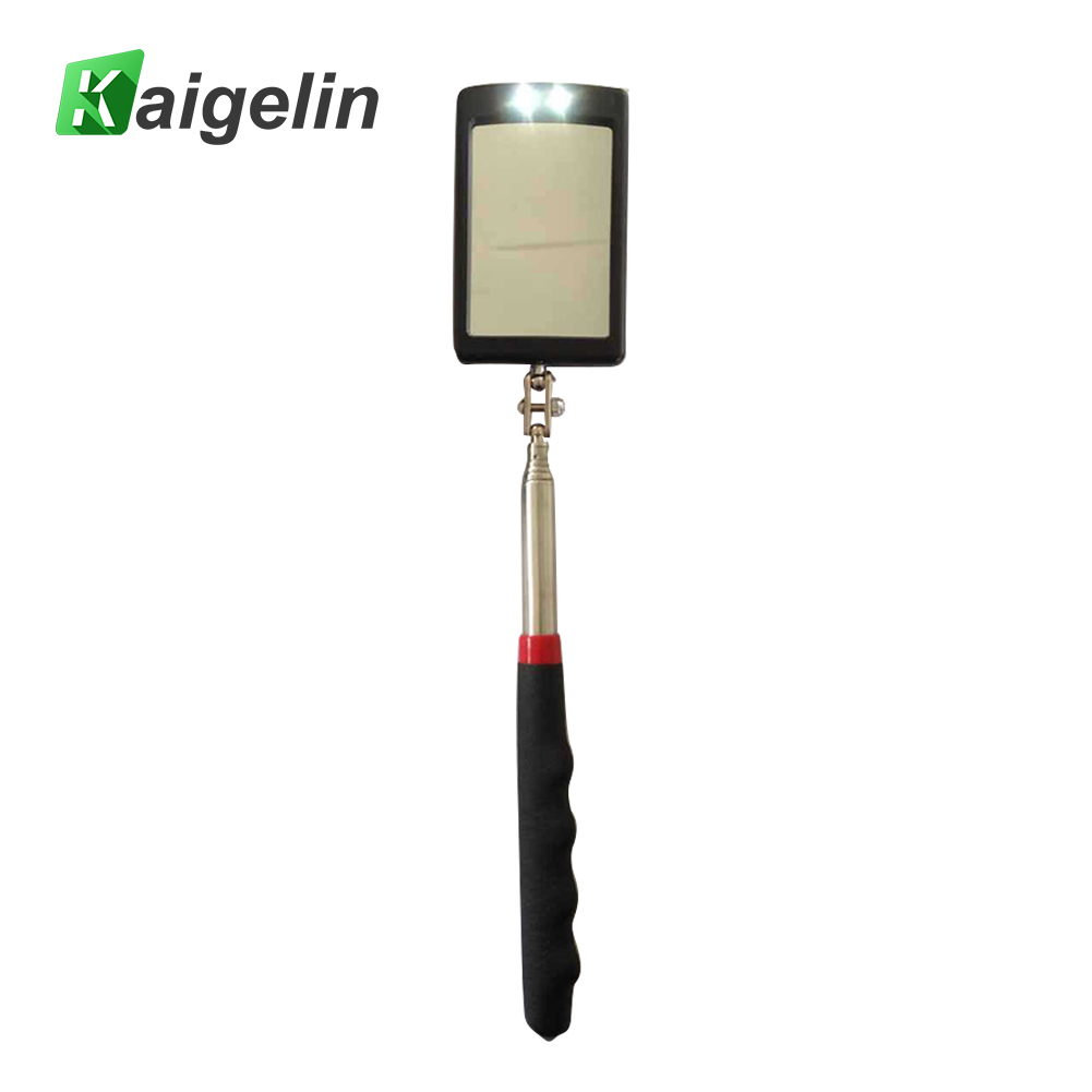 Kaigelin LED Work Light Inspection Mirror Extending Car Chassis Angle View Automotive Telescopic Detection Tool For Car Repair