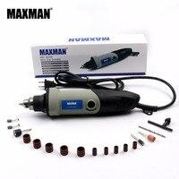 110V American Standard Plug MAXMAN Electric Mini Die Grinder Variable Speed Rotary Tool Multifunctional DIY Multi Power Tools