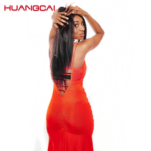 Huangcai human hair 100% Peruvian Hair Weave Bundles straight Hair Weft Free Shipping no shed and tangle non remy