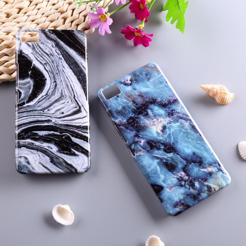 Diy piedra de mármol cajas del teléfono de plástico para bq aquaris m5 5 pulgada