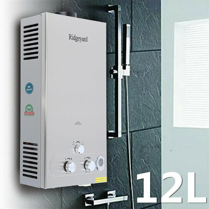 Acier inoxydable de chaudière instantanée sans réservoir de Propane de chauffe-eau de LPG du gaz 12L CE