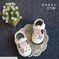 Новый 2016 Весна Детские Мягкие Натуральная Кожа Первые Ходоки Сладкий Лук Цветы Детские Обувь для Девочек #2972