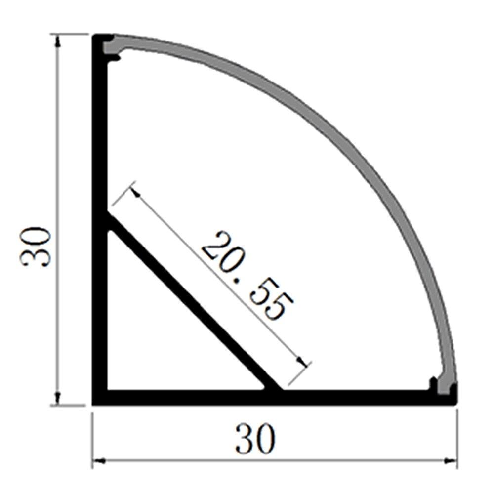 20pcs (40m) çox, Parça başına 2 m Anodized diffuz / aydın - LED işıqlandırma - Fotoqrafiya 2