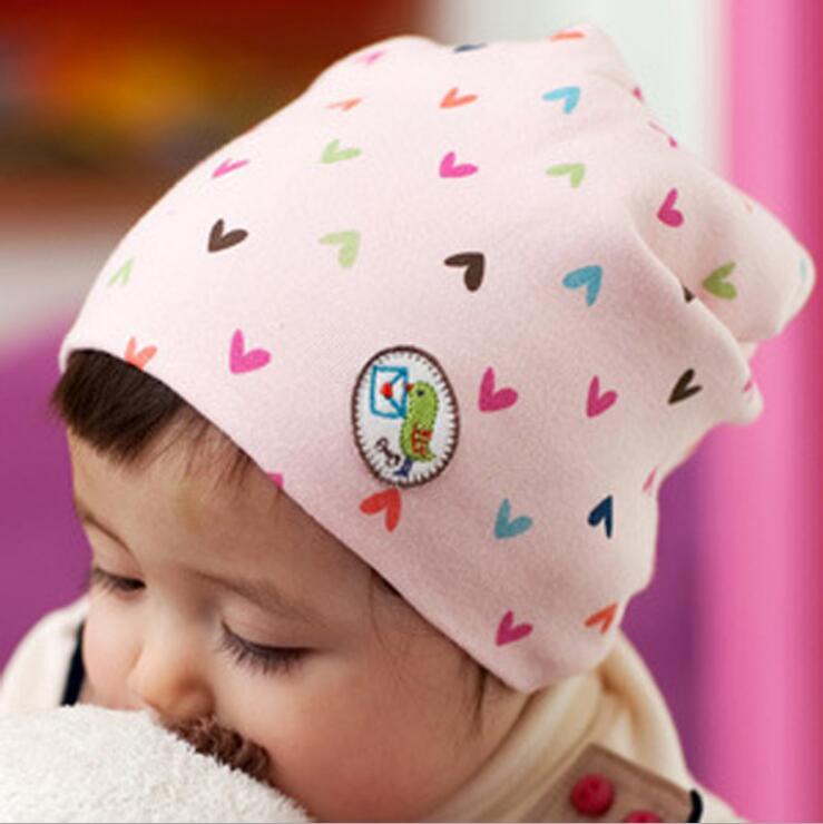 New Baby Hat Beanie Hat Girl Boy Cotton Love Heart Multicolor Infant Newborn BL