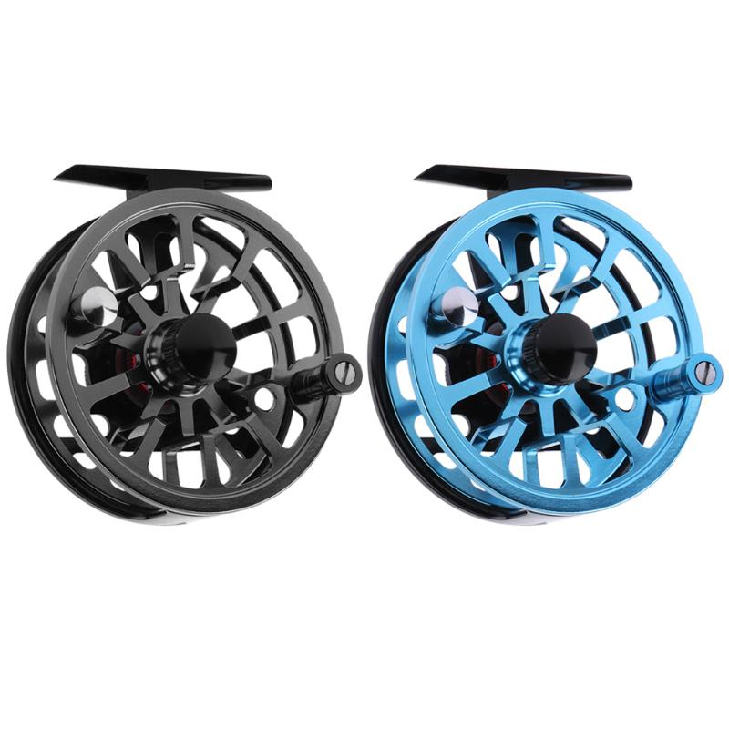 2 Colors Aluminum Fishing Reels For Winter Ice Fly Fishing Rods Spinning Stainless Steel Simple Wheel Coil Fishing Tackle Tools
