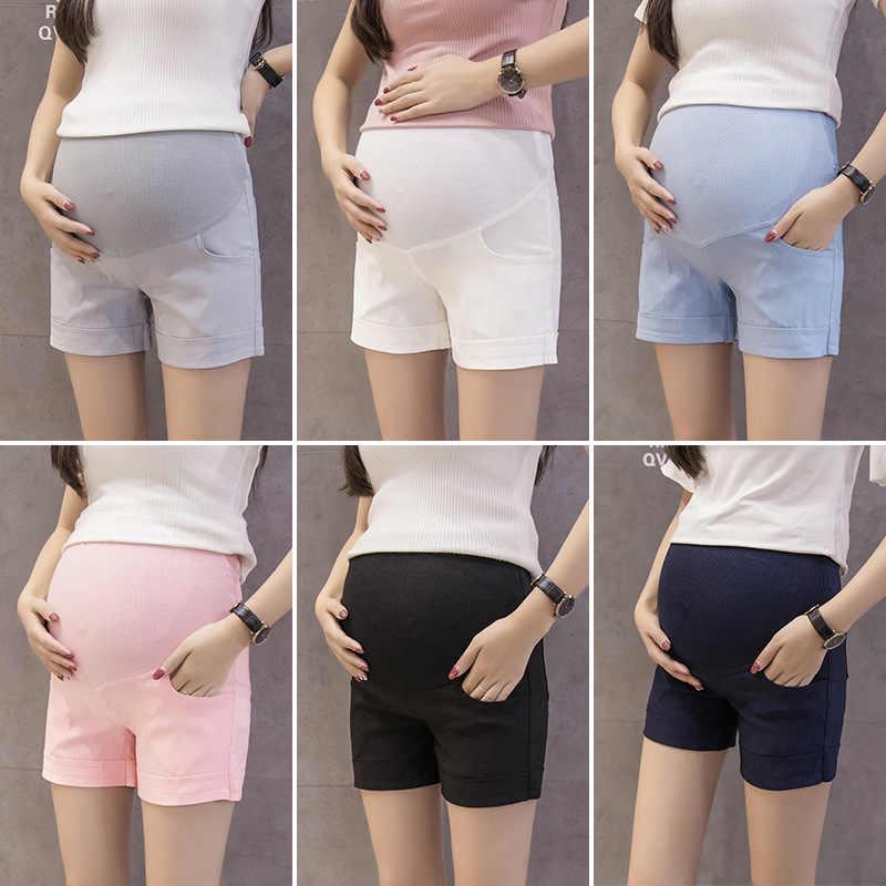 6e4b61f55 Pantalones cortos de maternidad pantalones cortos ropa de maternidad del  verano Crochet algodón ropa embarazadas polainas