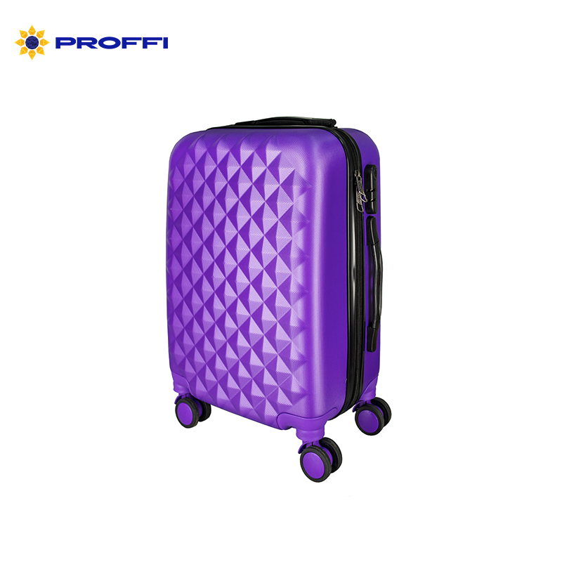 Bright blue PROFFI TRAVEL PH8367violet, S, plastic suitcase with 4 wheels with combination lock mini 4 digit zinc alloy security resettable combination lock black