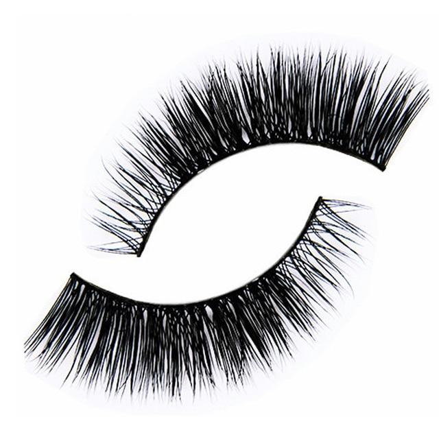 1pair Full Strip Eyelashes Natural Thick Fake Eyelashes Extension