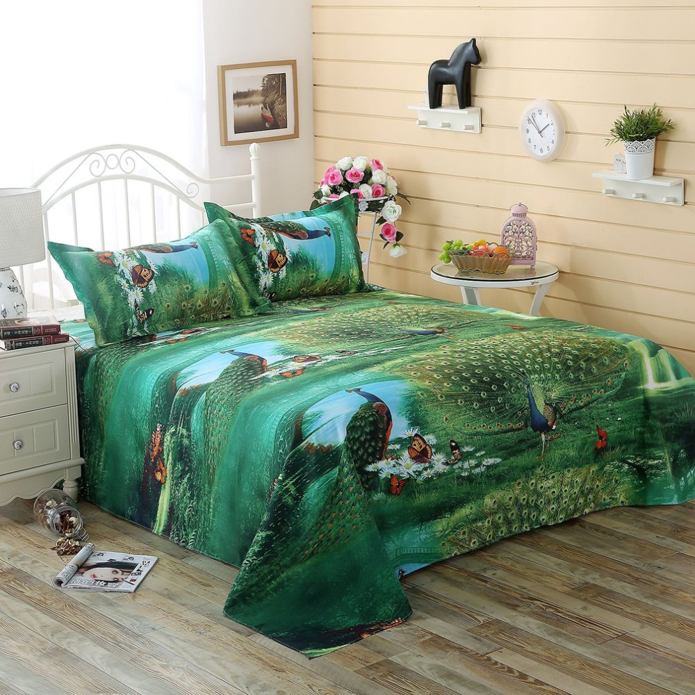 4PCS/SET Comfortable Bedding Coverlets 3D Floral Printed Home Bedroom Bed Clothes Duvet  ...