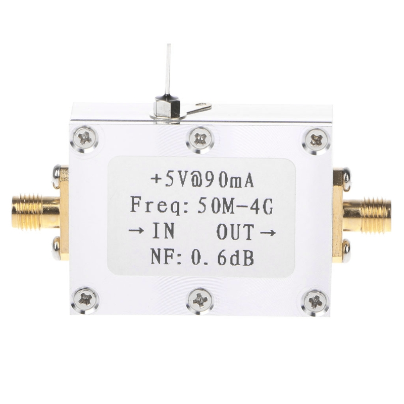 50M-4GHz Low Noise Amplifier LNA Ham Radio Module RF FM HF VHF NF=0.6dB -110dBm #0615 xn297l 2 4ghz wireless module