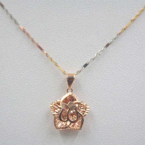 Здесь можно купить  New Solid 18K Rose Gold Pendant Faced Star Pendant 21mm H Au750  Ювелирные изделия и часы