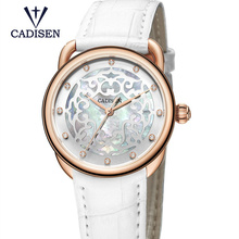2017 Luxury Brand CADISEN Ladies Watches Fashion Genuine Leather Quartz Geneva Bracelet Wristwathes Relogio Feminino Sale Clock