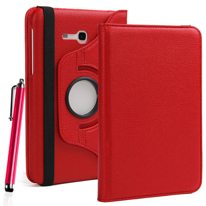 360 Degree Rotating PU Leather Stand Case For Samsung Galaxy Tab 3 Lite 7 0 SM