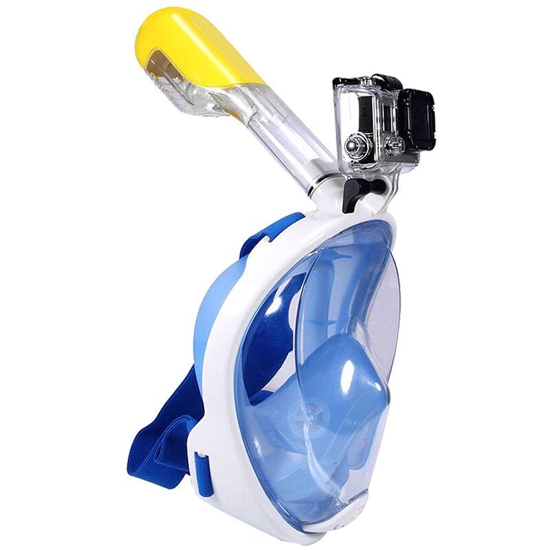 Natation Plongée Snorkeling Plein Visage Masque Sous-Marine de Surface pour Gopro L/XL (Adulte Type)