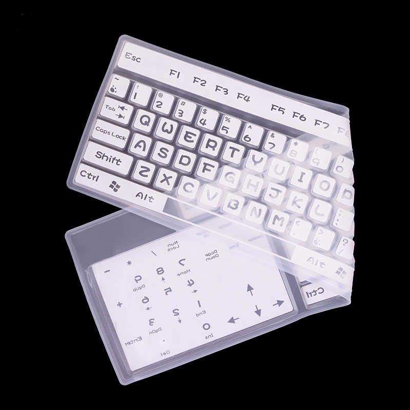 Universal Desktop Keyboard Komputer Pelindung Keyboard Silikon Penutup Transparan Jelas Protector untuk MacBook Air