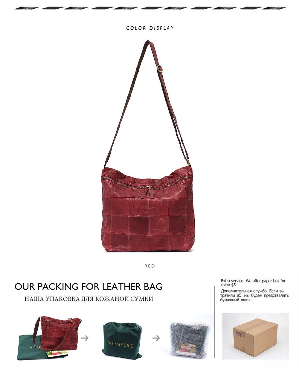 03970a7ad415 MONFERE Vintage Handmade Ladies Bags Women Block Patchwork Leather ...