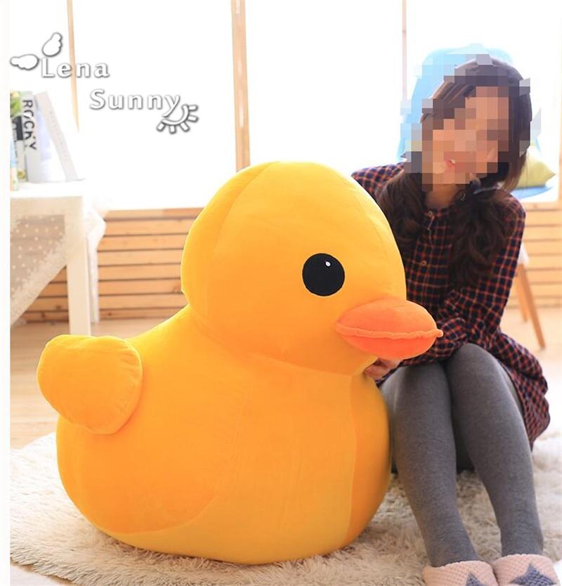 100CM Giant Duck Stuffed Dolls, Rubber Duck Hongkong Big Yellow Duck Plush Toys Best Gift for Children