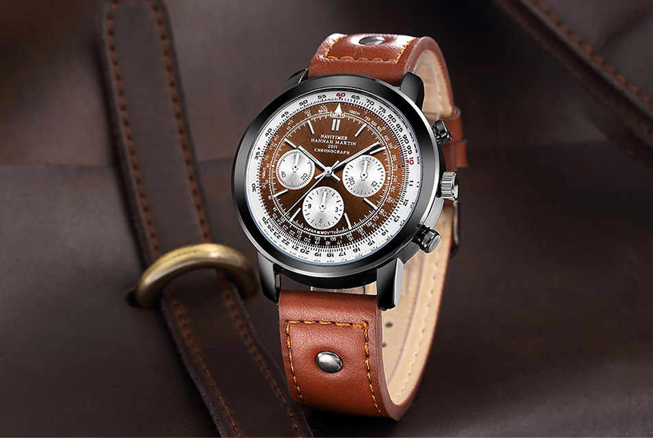 Japan Movement Waterproof Men Top Brand Luxury Men's Leather Sports Military Army Quartz Nylon Pilot Watches Relogio Masculino