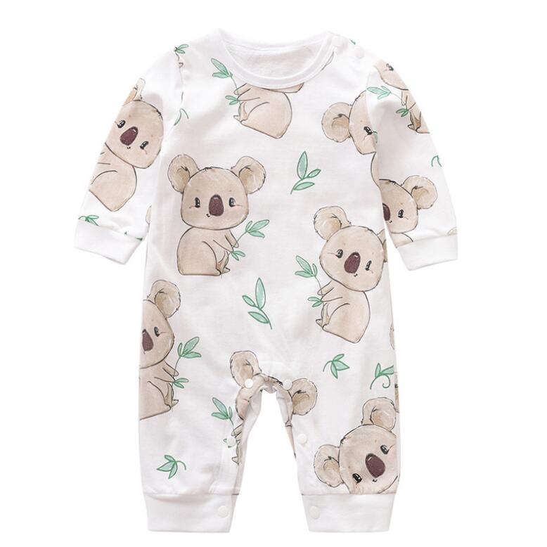 Newborn 100% Cotton   Romper   Infant Toddler Cute Koala printing Summer Long Sleeve Kids Jumpsuit Baby Boy Girl Clothes