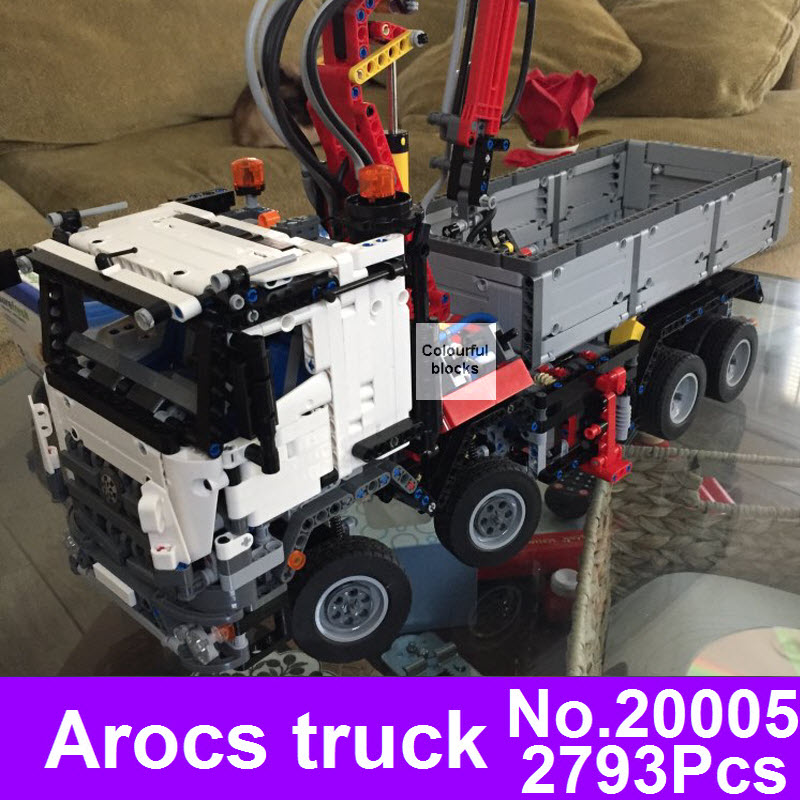 New LEPIN 20005 2793Pcs Technic Series Arocs Sets Model Building Block Bricks Compatible With 05007 Kids Toy Children Gift 42023 2793pcs technic remote controlled arocs truck 20005 building kit 3d model blocks minifigures toys bricks compatible with lego