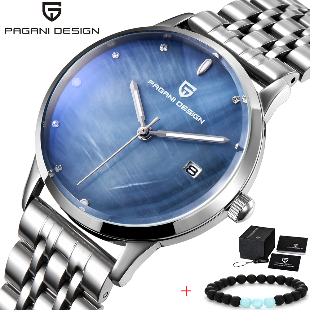 PAGANI DESIGN Top Brand Fashion Lady Quartz Watch Women Stainless Waterproof dial Luxury Dress Watches Relogio Femininoshell big dial simple watch for women top brand luxury pu leather hot design quartz watch dress lady watches nice relogio digital