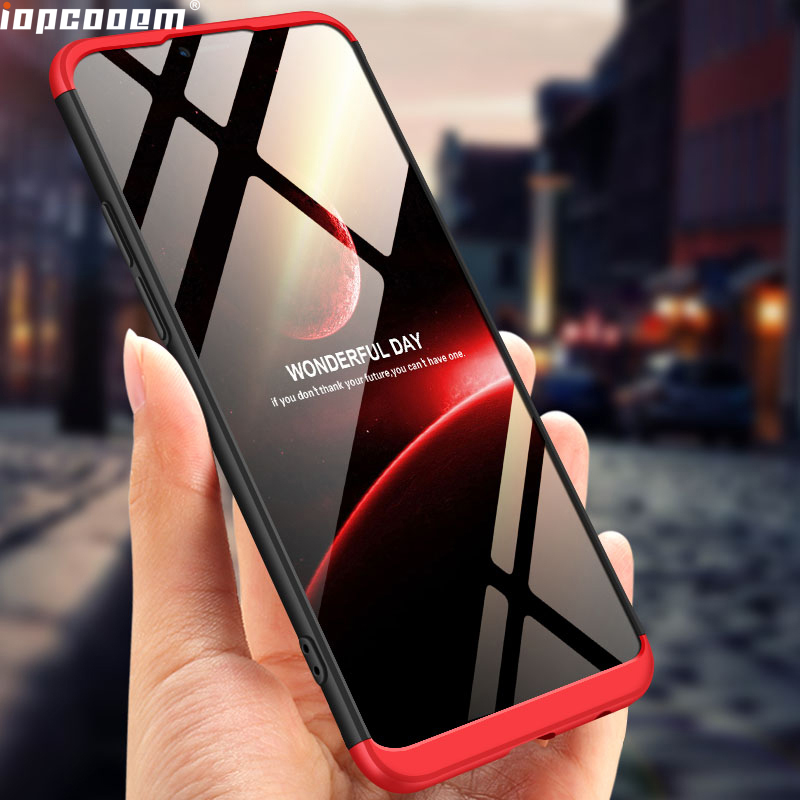 For OPPO Realme C1 A3S A5 Case 360 Full Protection Hard PC Shockproof Matte phone Case For OPPO Realme C1 2019 case
