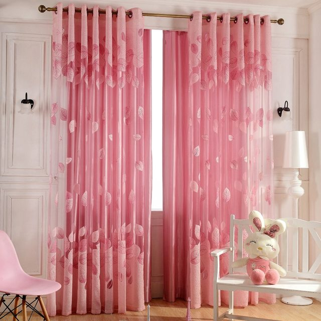 Online Shop Luxury Window Curtains Set for Living Room Sheer Drapes ...
