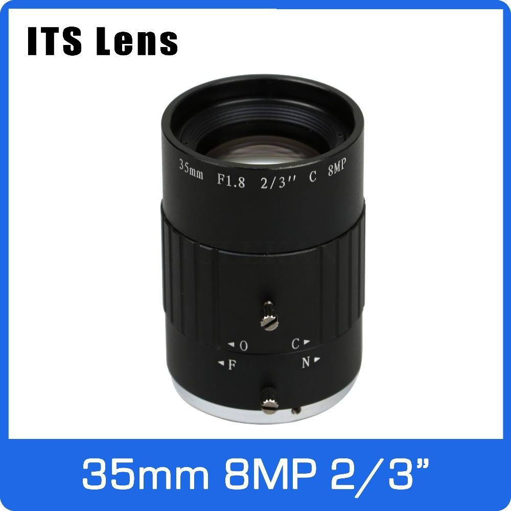 2/3 inch 8MP 4K ITS Lens 35mm F1.8 Long Distance View 100 Meters MAX  C Mount For Electronic Police Traffic Camera2/3 inch 8MP 4K ITS Lens 35mm F1.8 Long Distance View 100 Meters MAX  C Mount For Electronic Police Traffic Camera