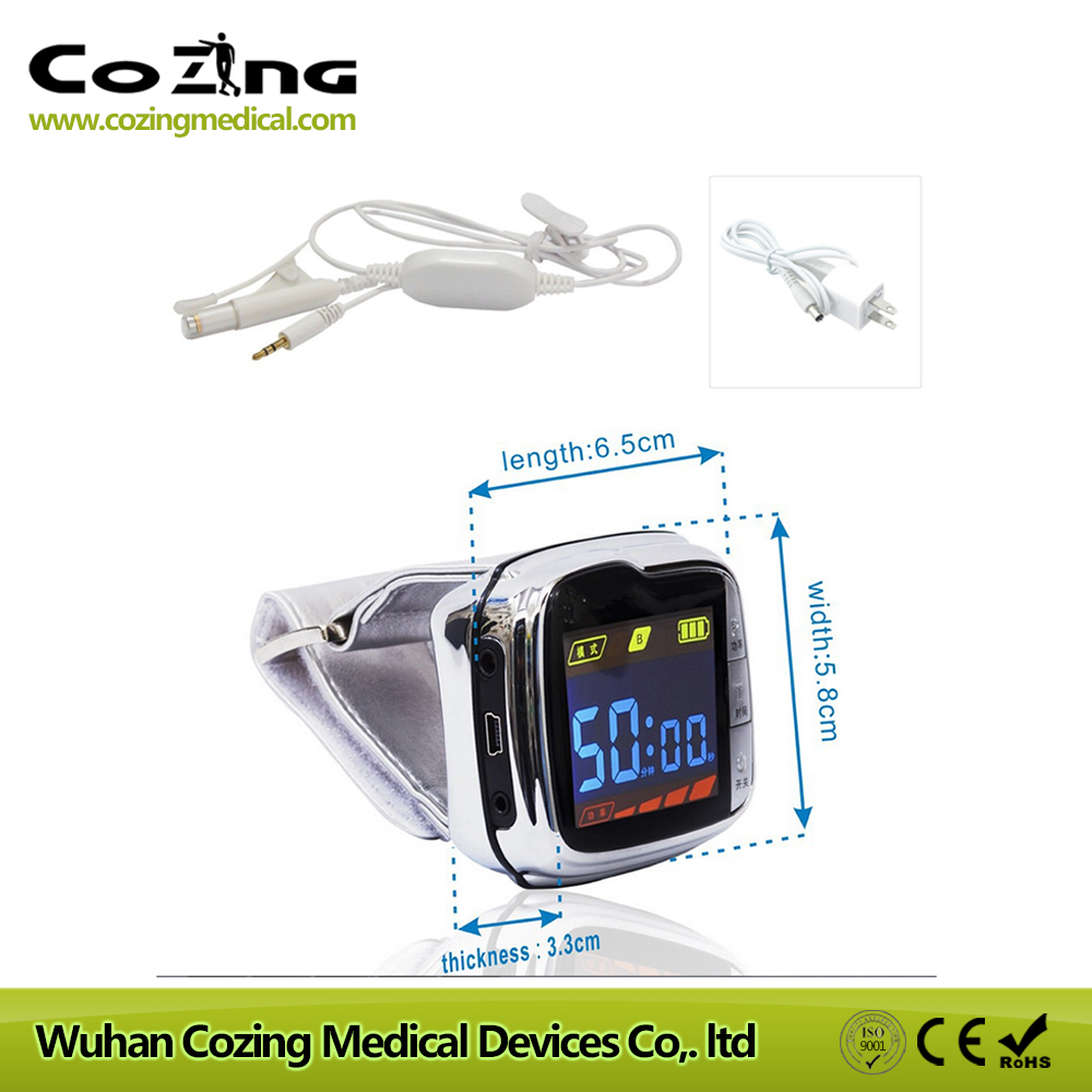 650nm laser therapy device blood pressure regulation and blood cleaner wrist laser therapeutic apparatus machine cold laser therapy watch electronic acupuncture apparatus blood pressure regulation type