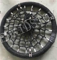 Heavy Duty Patio Nest Swing Seat Cable Rope Net Web Nest Tree Swing dia 120cm