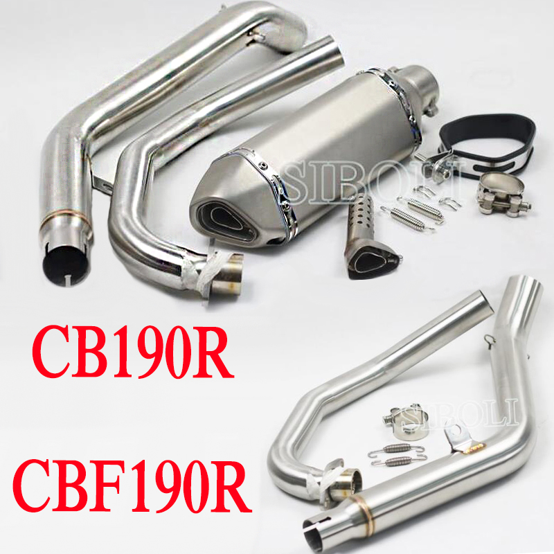 Modified Motorcycle Muffler Middle Pipe With Moveable DB Killer Motocross Escape Moto Exhaust FOR HONDA CB190R CBF190R AK170 free shipping motorcycle brake pads for honda wh150 2 wh150 3 cbf190r wh150 3a cb190r wh150 11 wh150