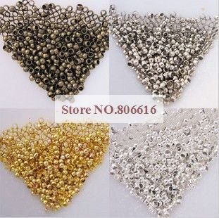 2MM 10000Pcs Crimp End Beads Jewelry Findings Components Jewelery Accessories
