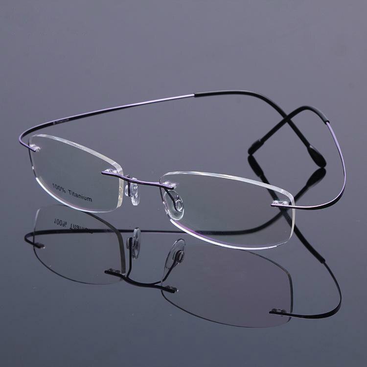 Viodream Haute-grade titanium classique Yeux lunettes cadre myopie lecture cadres oculos de grau cadres seulement 2g livraison gratuite