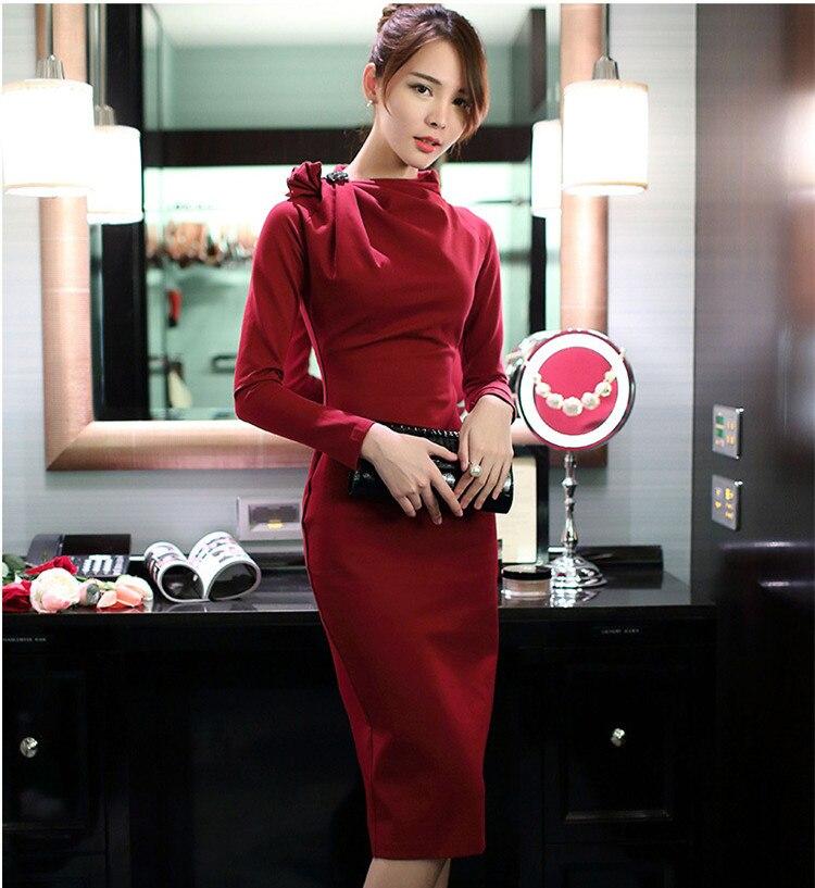 8487218def6d Rosso A Sfera Dell anca Pacchetto Red Dress Vintage Annuale Di Ufficio  Stile Partito nero Classy ...
