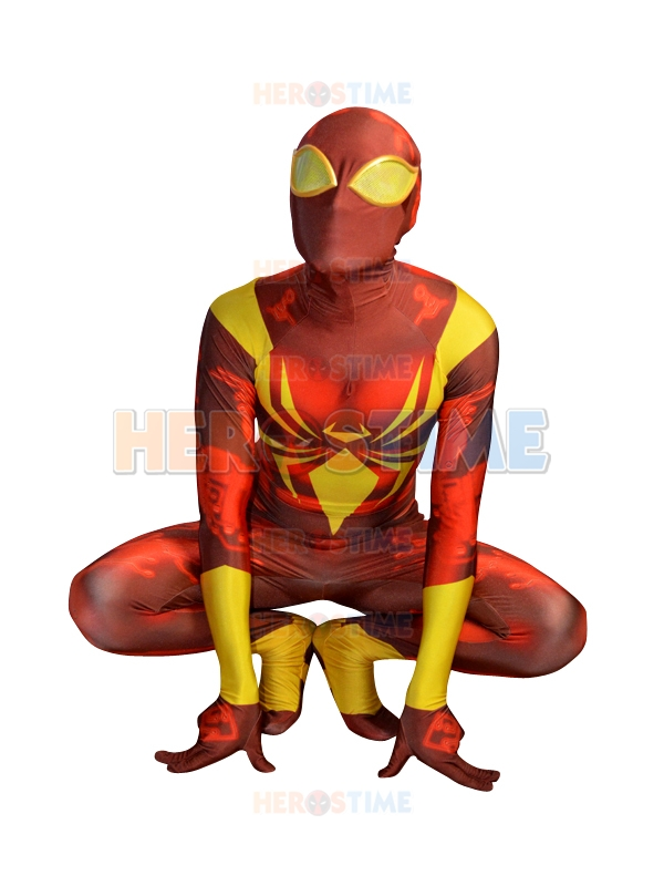 Custom Made Iron Spider Armor Costume Version2 Lycra Spandex 3Digital Printing Spider-man Costume Adults Mens Suit