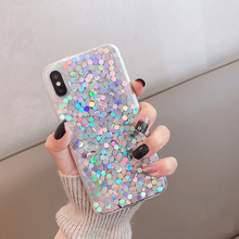 Glittering film for iphonexr phone case 8plus for iphone x/xs max/xr net red iphone7/6s female models sandn red iphone7 47inch