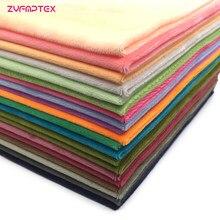 ZYFMPTEX Новое поступление 30 цветов полиэфирная плюшевая ткань, Лоскутная Ткань, сделай сам шитье квилтинг толстые четверти материал для ребен...