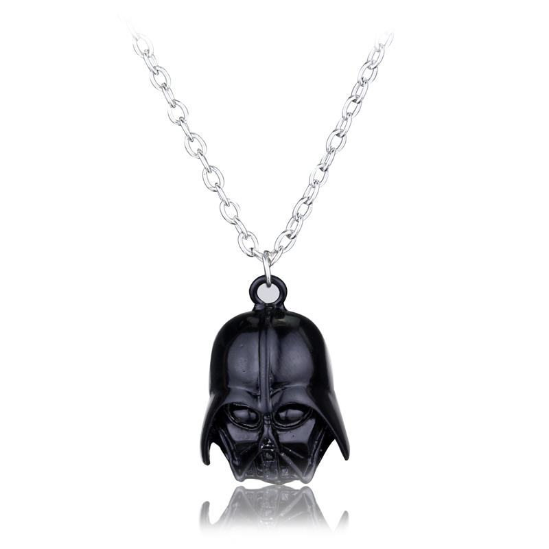 Hot Movie Star Wars Mask Pendant Necklace Darth Vader Helmet Choker Necklace for Men Women Fans