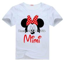 Minnie Mouse Ears Mimi Girl Digital Head Birthday Party Shirts For Toddler Kids Children Boy Cartoon T Shirt