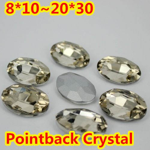 Light Coffe Oval Shape Crystal Fancy Stone Point Back Glass Stone For DIY Jewelry Accessory.10*14mm 13*18mm 18*25mm 20*30mm violet oval shape crystal fancy stone point back glass stone for diy jewelry accessory 10 14mm 13 18mm 18 25mm 20 30mm