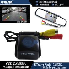 Fuwayda Цвет CCD чип вид сзади автомобиля Камера для Toyota Prius 06-10/Camry 09 10/Aurion 06-11 + 4.3 inch зеркало заднего вида Мониторы