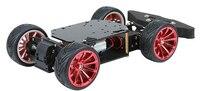 Intelligent Car Bottom Plate Rear Wheel Differential Front Wheel Steering Gear Servo Steering Arduino Car Rear