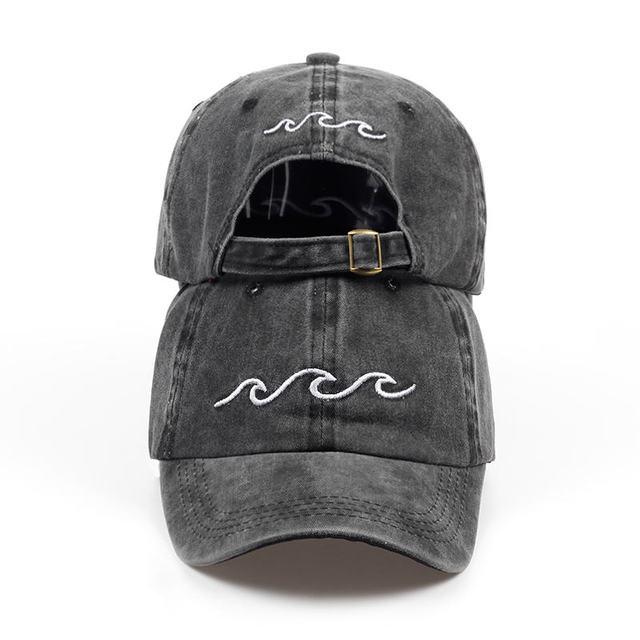 2018 new design dad hats women men sea wave baseball cap high quality unisex fashion dad hats new sports hats 1