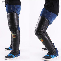 Riding Motorcycle Genuine Leather Knee And Warm Winter Electric Vehicle Knee Leg Protection Against Cold Wind