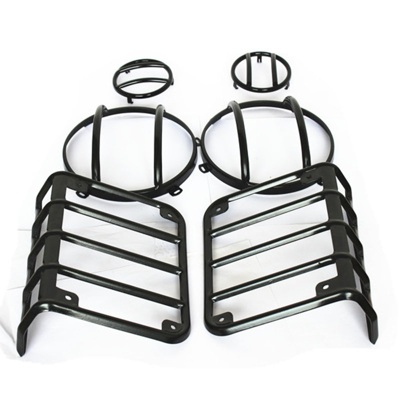 For Jeep Jk Tail Light Guards 7 Inch Headlight Guards Turn Single