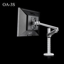 OA-3S Height Adjustable LCD Monitor Holder Aluminum Alloy Rotation Desktop Display TV Long Arm VESA Stand Max Support 27 inch