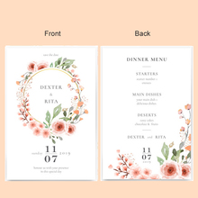 (100 pieces/lot) Western Style Bride Dress Groom Suit Wedding Invitations Customized Color Print Photo Engagement Cards IC2011