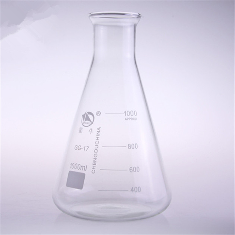 1000ml,Glass Erlenmeyer Flask,Glass Conical Flask,Bell Mouth Neck ,Laboratory Glassware